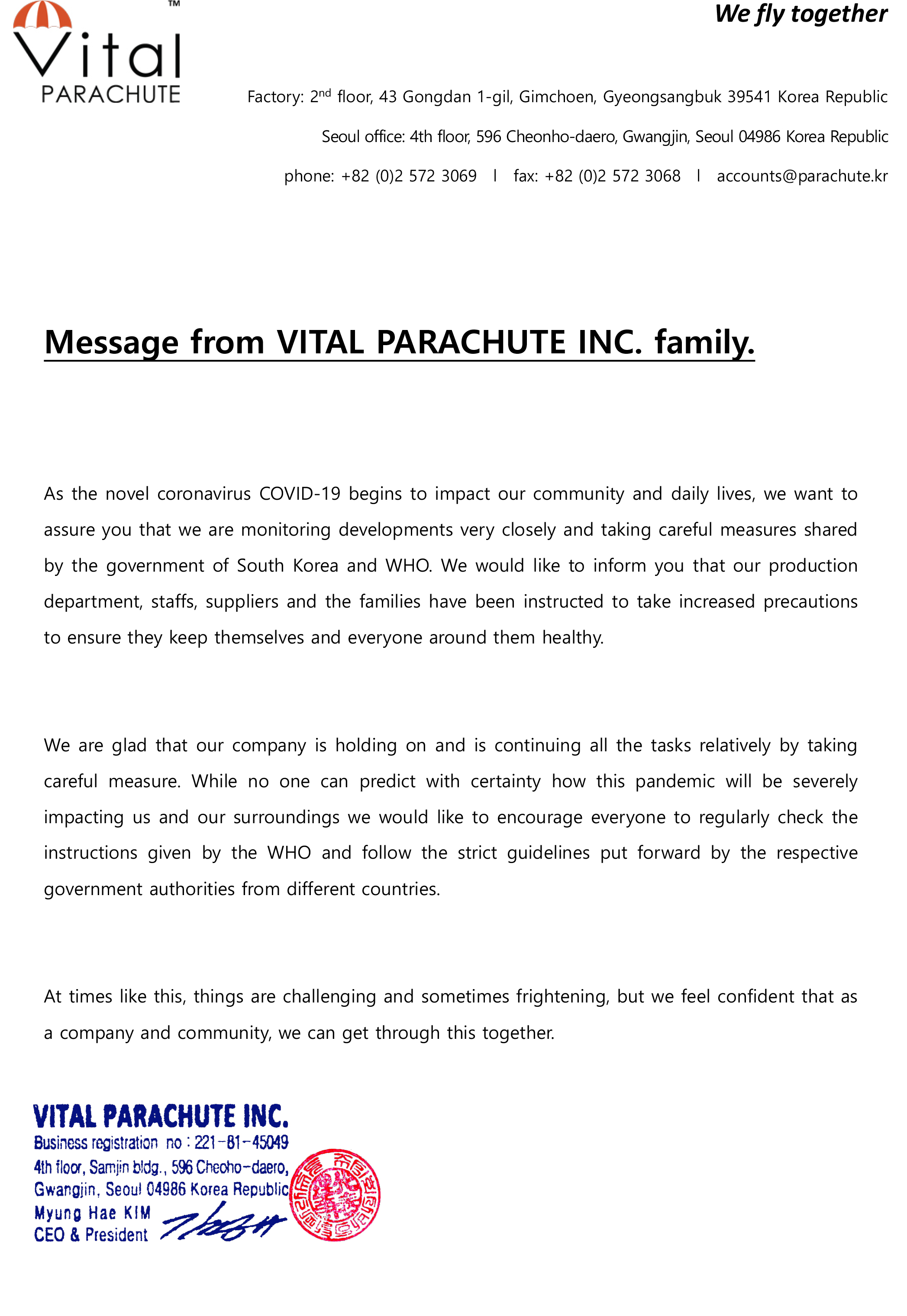 message from VITAL PARACHUTE INC Corona COVID-19.jpg